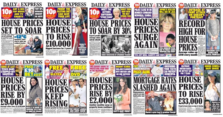 Image result for daily express house prices to soar