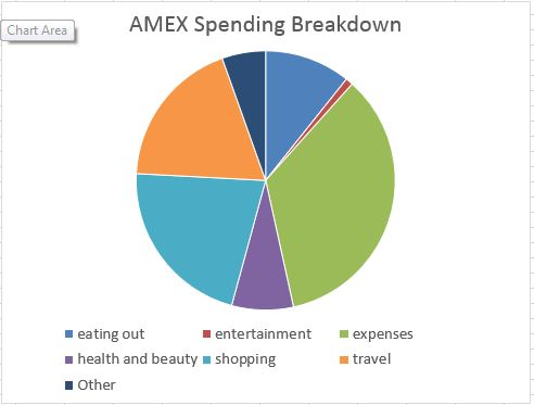 amex pie chart